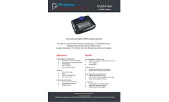 UV254 Go - Portable, Field and Laboratory Instrument - Datasheet