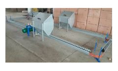 Chain feeding systems for breeders on floor and cages.