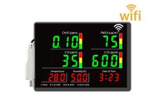 Cumulate - Model FDM1235 - Multiple Air Quality Monitor Jumbo LED Displa with WIfi datalogger.