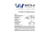Model 10-12 Metric Ton - Amphibious Excavator Specification