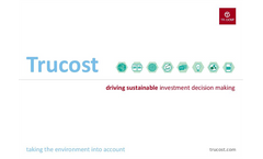 Trucost: Driving Sustainable Investment Decision Making