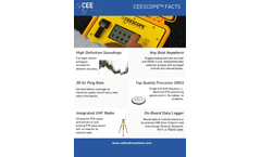 Ceescope - Model USV - Unique Single Or Dual Frequency Hydrographic Surveying System Brochure