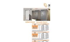Sonic - Acoustic Doors Brochure