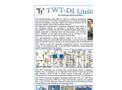 TWT-DI - Ion Exchange Demineralizators Plant Brochure