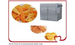 Hot Air Dryer for Sweet Potatoes Processing Plant