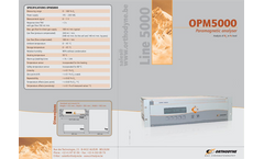Orthodyne - Model OPM 5000 - Oxygen Analyser Brochure