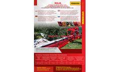 Weremczuk - Model MAJA - Sour Cherries and Plums Shaking and Cleaning Machine - Datasheet