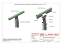 Alphastrut External Handrail Post/Rail Assembly - 002 - Datasheet
