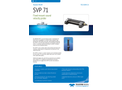 Teledyne - Model SVP 71 - Fixed Mount Sound Velocity Probes Brochure