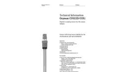 Oxymax - Model COS22D/COS22 - Digital Oxygen Sensor - Technical Datasheet