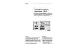 Liquistation - Model CSF48 - Automatic Stationary Sampler for Liquid Media - Technical Datasheet