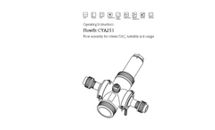 Flowfit - Model CYA251 - Universal Flow Assembly for Nitrate/SAC, Turbidity and Oxygen Sensors - Operating Instructions Manual