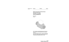 Proline Promag - Electromagnetic Flowmeter - Brief Operating Instructions Manual