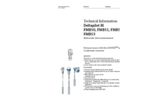 Deltapilot M FMB50, FMB51, FMB52, FMB53 Hydrostatic Level Measurement - Technical Information