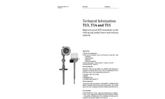 T13 Explosion Proof Pt100 Thermometer, US Style - Technical Information