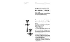 Micropilot S FMR540 Level-Radar - Technical Information