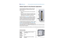 Dilution System for Gas Detection Applications Brochure