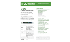 CI-340 Handheld Photosynthesis System - Specifications