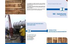 Geotechnics / Geochemistry - Brochure