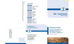 Graphical Presentation and Quantitative Analysis of Salt - Solution - Equilibriums Training - Brochure