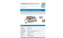 GKM - Model KLS 200 - Laboratory Air-Jet Lab-Sieves - Datasheet
