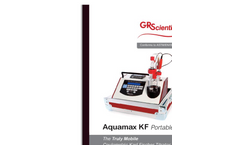 Aquamax - Model KF - Portable Coulometric Karl Fischer Titrate Brochure