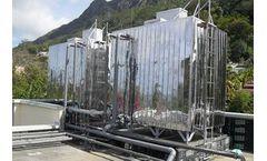 Stainless steel rectangular water reservoir