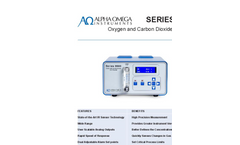 AOI - Model Series 9600 - Oxygen and Carbon Dioxide Monitor & Analyzer - Data Sheet