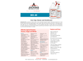 Artemis - Model BIO-40 - One-Step Cleaner and Disinfectant - Datasheet
