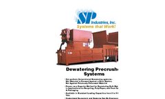 SP Industries - Model PC-3000-DW - Dewatering Precrusher Systems - Brochure