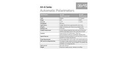 Model AA-10 Series - Automatic Polarimeters - Brochure