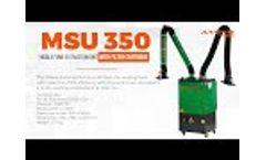 MSU 350 fume and dust extraction unit with double arms - Video