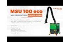 Avevo MSU 100 eco mobile fume extraction unit - Video