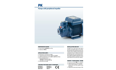 Pedrollo - Model PK - Pumps with Peripheral Impeller - Brochure