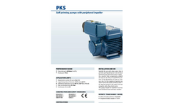 Pedrollo - Model PKS - Self-priming Pumps with Peripheral Impeller - Brochure
