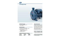 Pedrollo - Model CP 0.25-2.2 kW - Centrifugal Pumps - Brochure