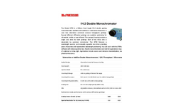 McPherson - Model 275D - Dedicated Double Grating Monochromator - Data Sheet