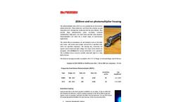 McPherson - Model 658 - End-on Photomultiplier Tube (PMT) Housing Assembly - Datasheet