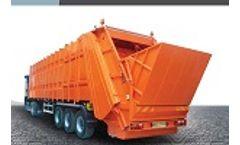 Rear Loading Waste Compactor Trailer