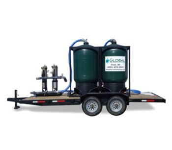 Model MWT-100 - Mobile Carbon Filtration Waste Water Treatment Trailer