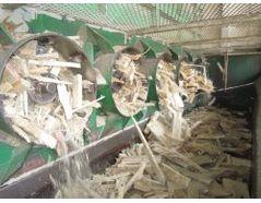 Output: crushed wood / pallets / wood waste / demolition wood