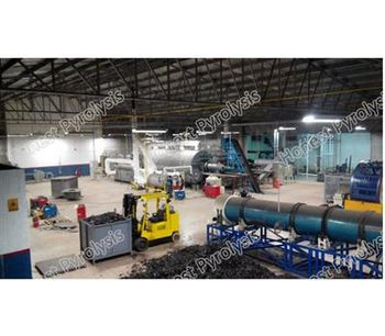 Model 16T - Semi Continuous Waste Tyre(plastic) Pyrolysis Plant