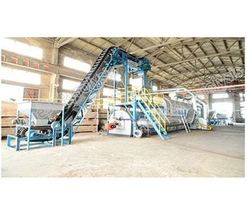 Model 15T - Fully Continuous Waste Tyre(plastic) Pyrolysis Plant