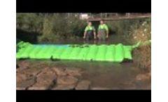 Mobile water barrier of Lenoir Aviation AG Video
