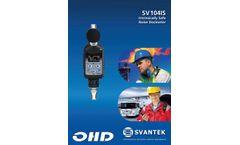 SV104IS Noise Dosimeter - Datasheet
