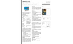 AIRSENSE - Model DPT-MB-D - Differential Pressure & Volume Flow Transmitter MODBUS - Manual