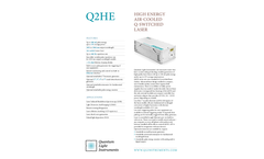 QLI - Model Q2HE - High Energy Air-Cooled Q-Switched Laser - Datasheet