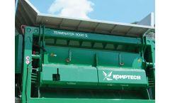Komptech - Model Terminator - Single Shaft Wood Waste Shredder