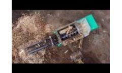 Komptech Crambo Wood Waste Shredder - Video