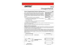 Silicon Charged Particle Radiation Detectors  Brochure